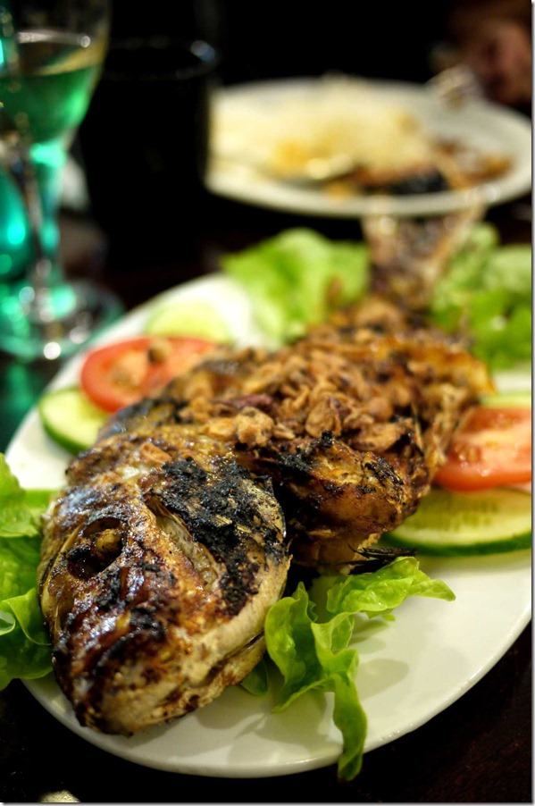 Grilled whole snapper or ikan bakar