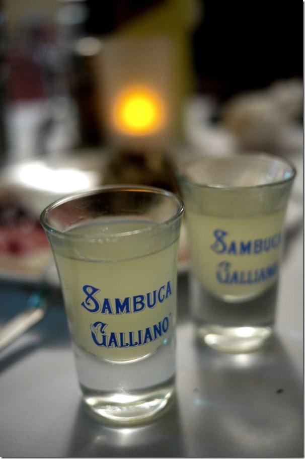 Limoncello shots