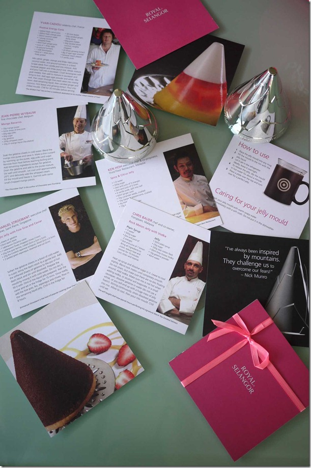 Recipe cards by celebrity chefs around the world