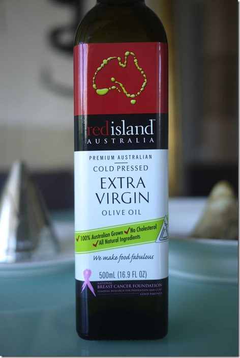Red island extra virgin olive oil (Gold Partner of the National Breast Cancer Foundation of Australia)