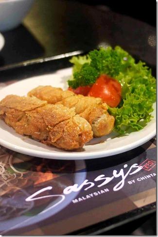 Malaysian loh bak at Sassy's Red, Westfield Sydney