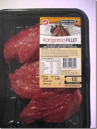 Kangaroo fillets - lean and mean