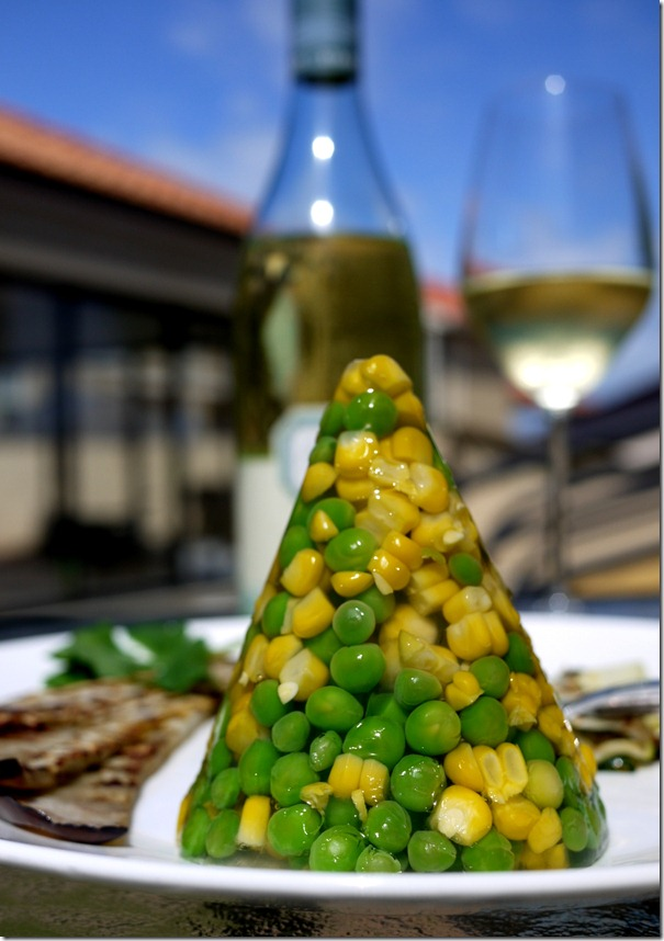 Pea and corn jelly
