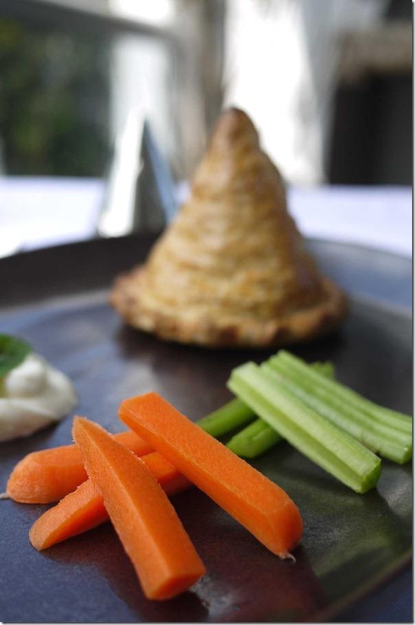 Crunchy carrots and celery sticks for yoghurt dip
