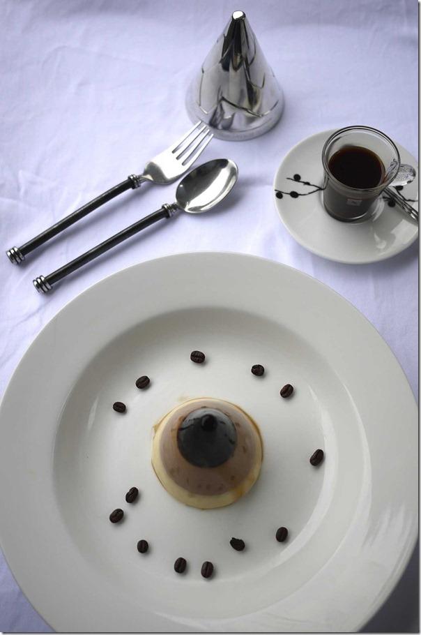 Coffee and nutella pannacotta