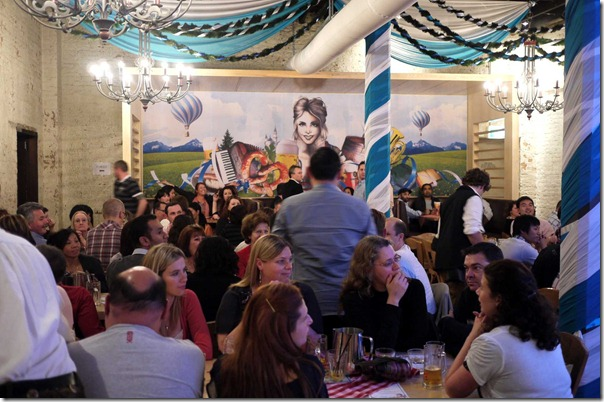 Oktoberfest at upstairs dining room, Lowenbrau