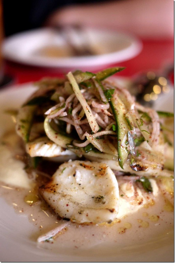 Grilled cuttlefish salad $19