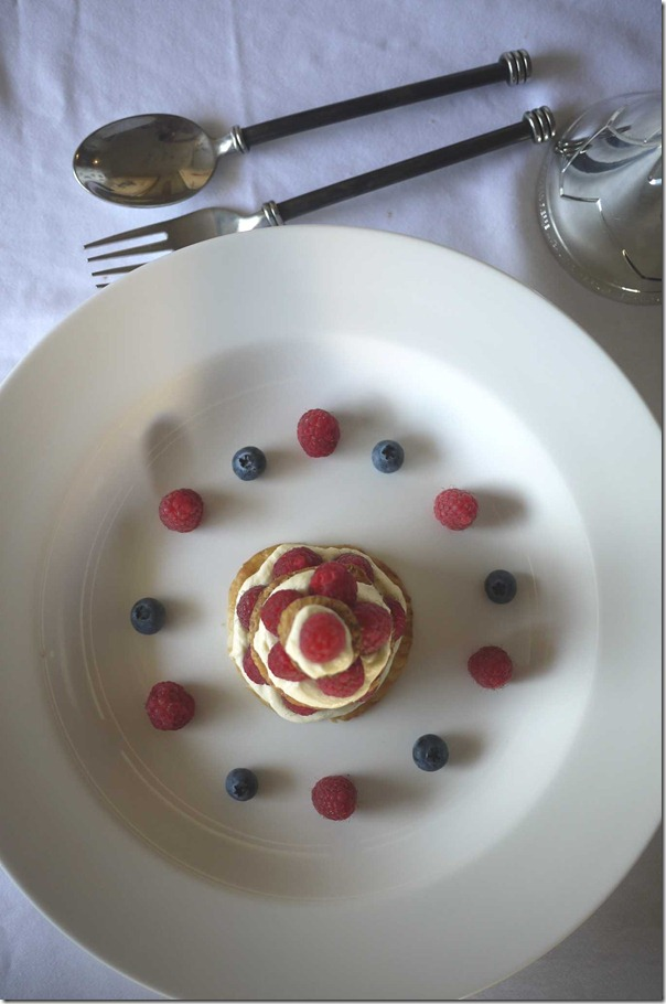 Raspberry mille feuille (before the snow)