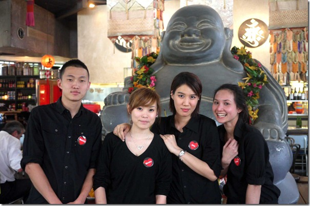 High moral and motivation ~ service staff at Chinta Ria ... Temple of Love