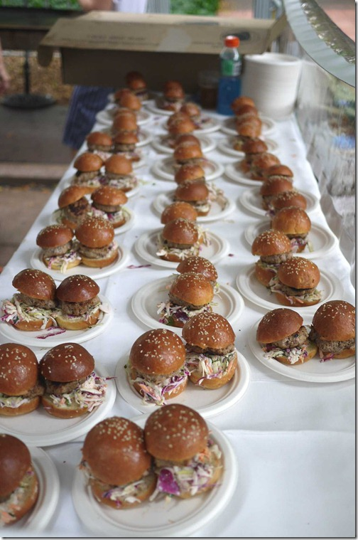 Gourmet mini burgers, Boathouse on Blackwattle Bay