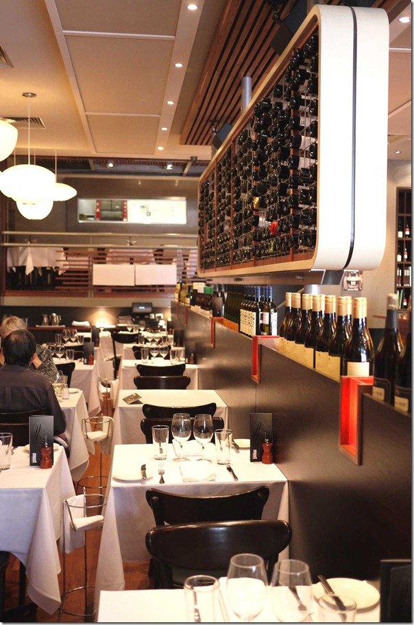 Dining room of bistro, Must Winebar