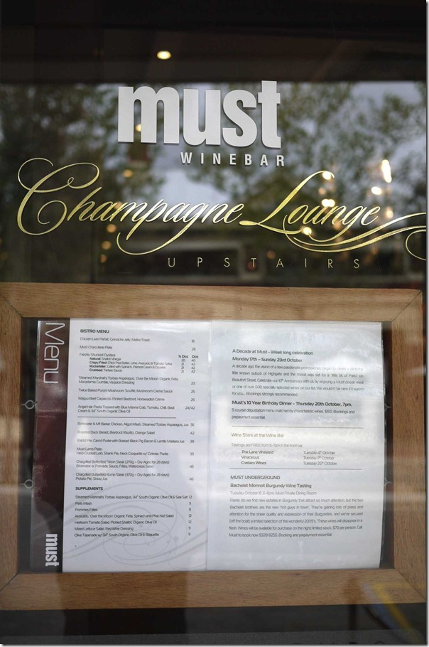 Must Winebar, Highgate, Perth