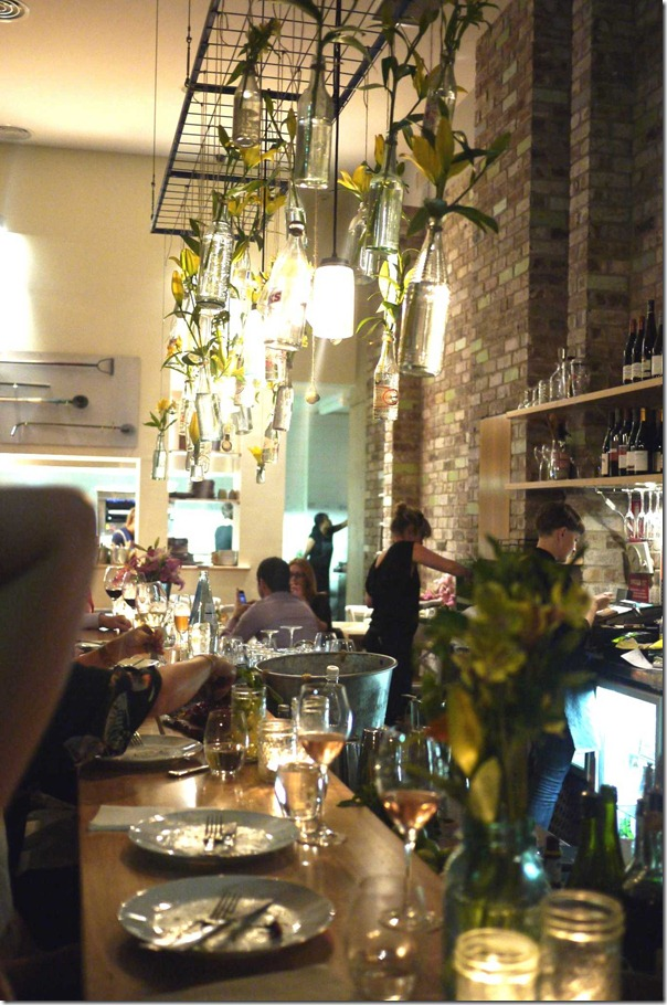 Dining at the bar, Orto Trading Co.