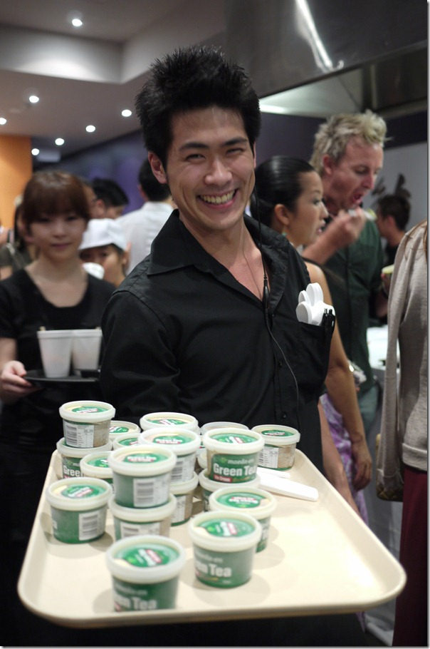 """Can I tempt you with some green tea ice-cream?"""