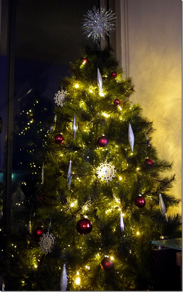 Our Christmas tree, December 2011