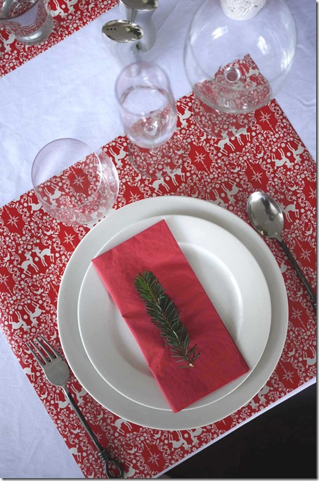 Table setting, Christmas eve 2011