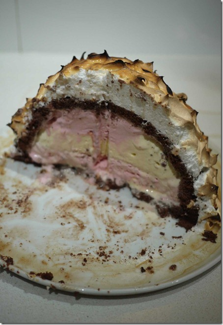 Bombe Alaska: Ice cream, pudding and meringue