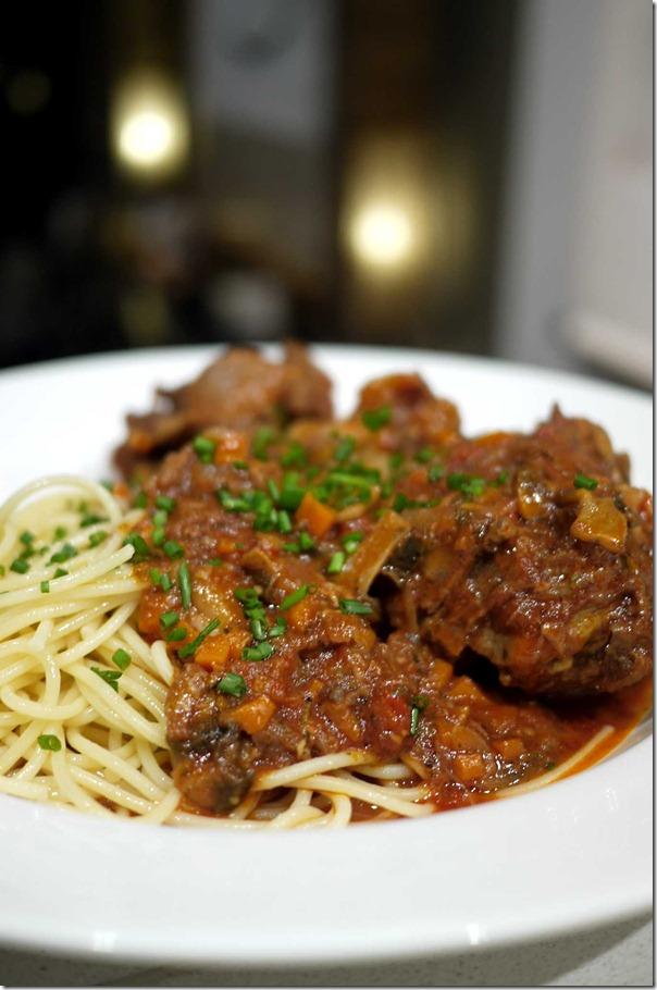Oxtail spaghetti bolognaise