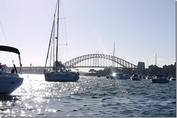 Sailboat on Sydney harbour