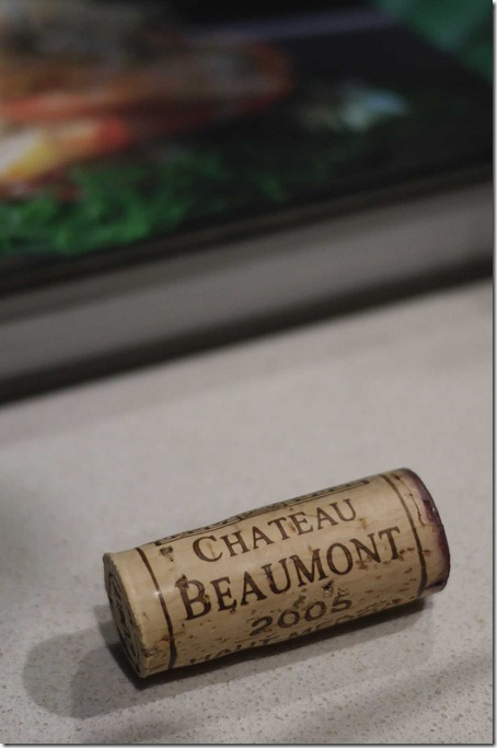 Cork of the 2005 Chateau Beaumont Haut-Médoc
