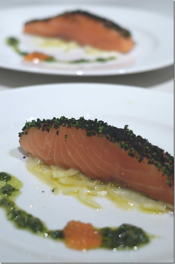 Confit of ocean trout with fennel salad