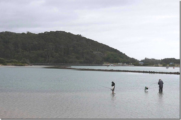Anglers at Norooma, South coast
