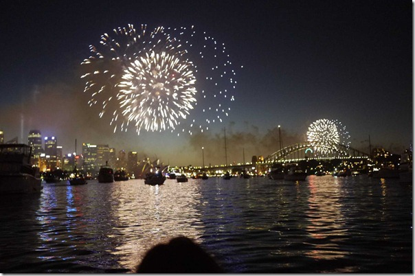 Fireworks at Sydney Harbour at 12 midnight, 1 January 2012