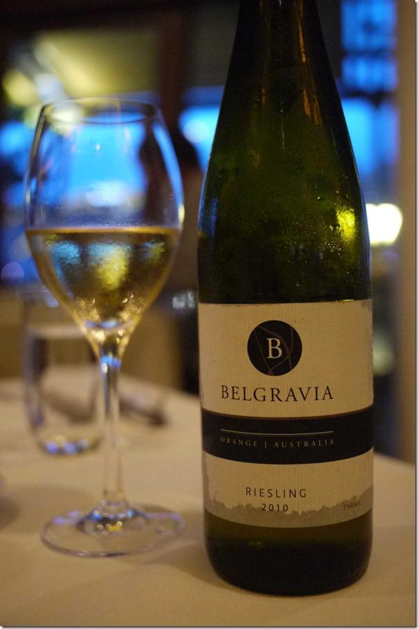 2010 Belgravia riesling $38