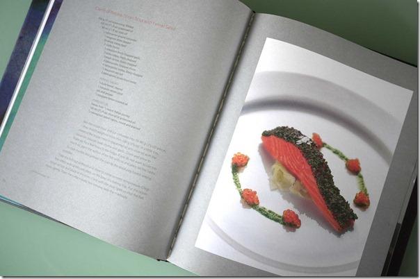 Tetsuya's signature dish - Confit of Petuna ocean trout and fennel salad