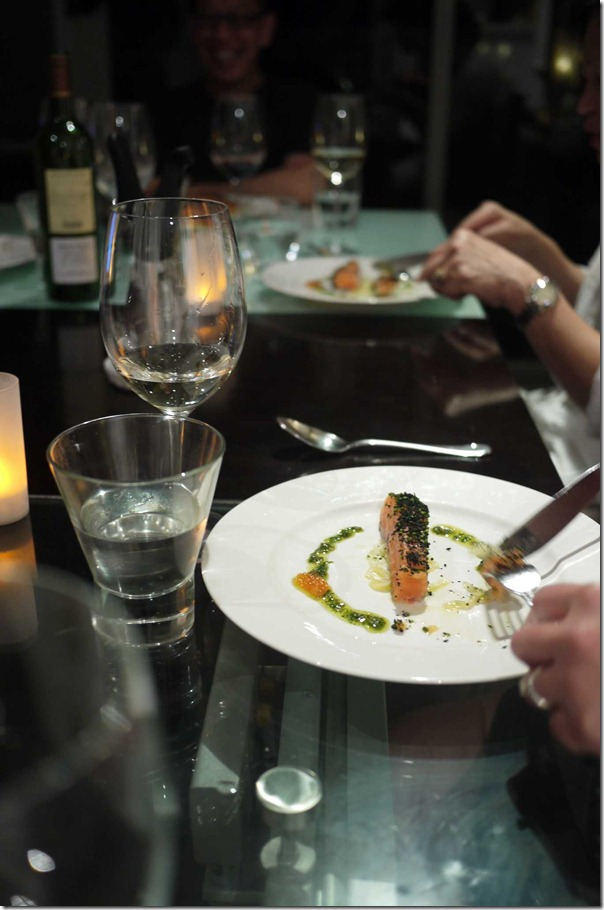 Confit of Petuna ocean trout with fennel salad