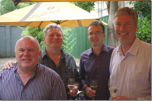 Peter Robson, Chris Hughes, Michael Burchsmith and Julian Gyngell
