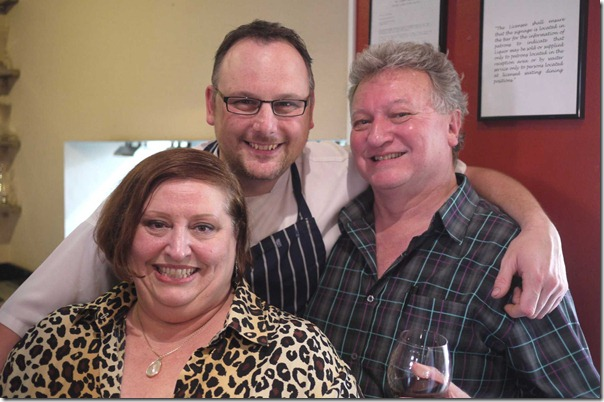 Friendship and passion for great food: Peta Dixon, Darren Templeman and Chris Hughes