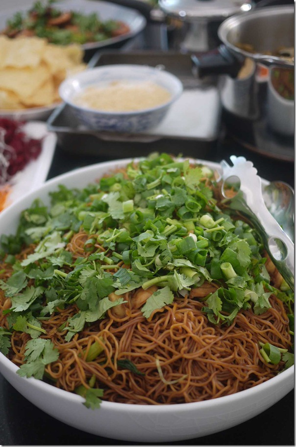 Stir fried noodles with soy sauce