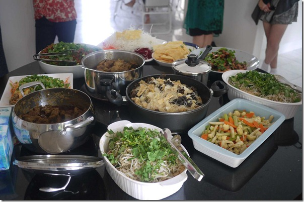 Steven's culinary spread for chinese new year