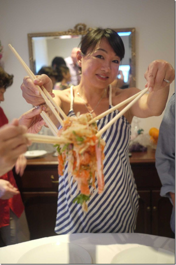 """Would you like some salmon yee sang?"""
