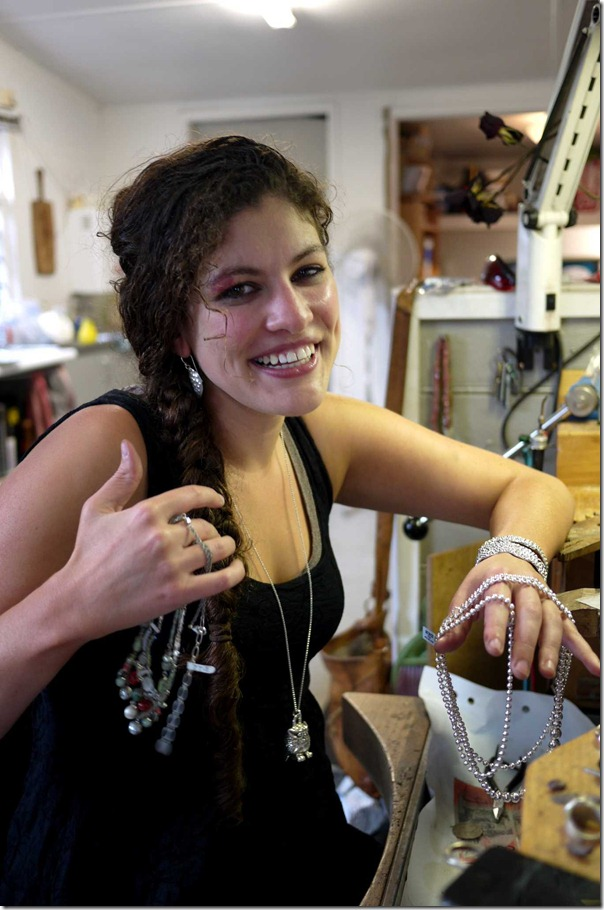 Gems from the south coast: Jeweler Bloss Theodore with some of her creations