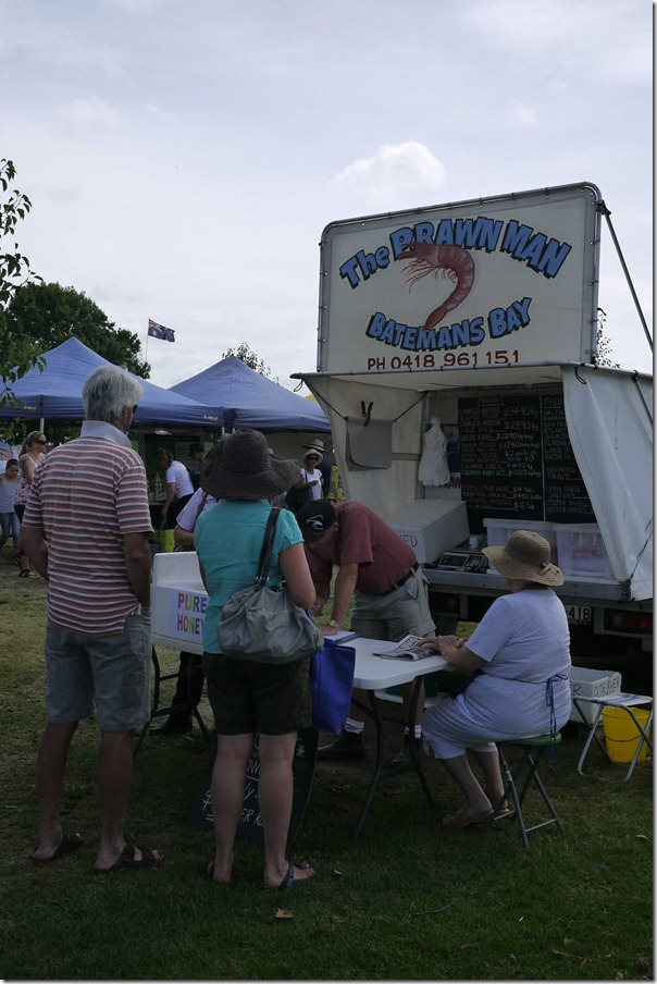 The Prawn Man at Moruya markets