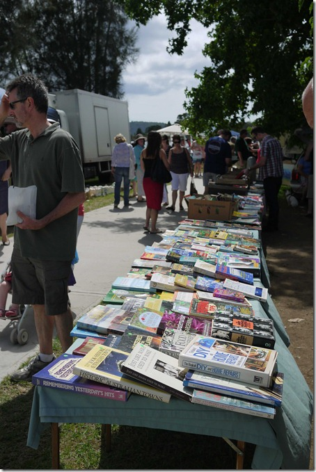 Books for sale, Moruya markets