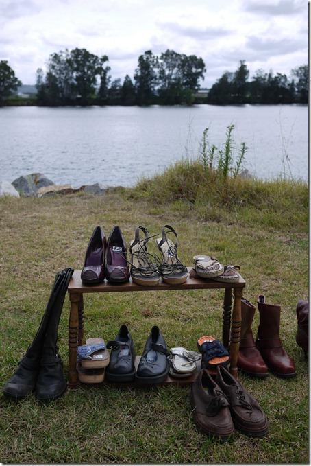 Shoes for sale, Moruya markets