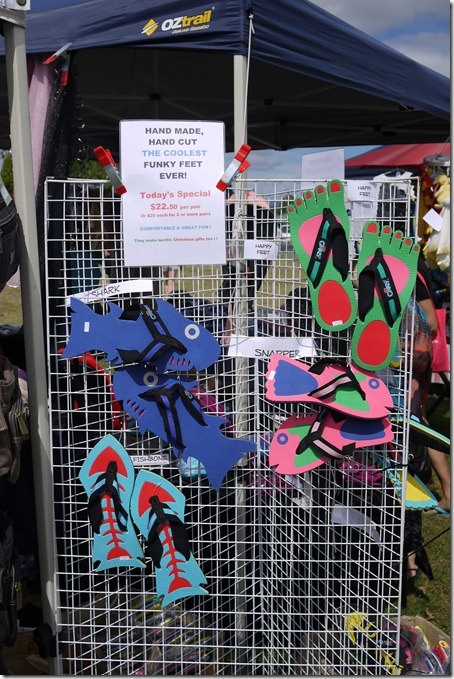 Designer thongs, Moruya markets
