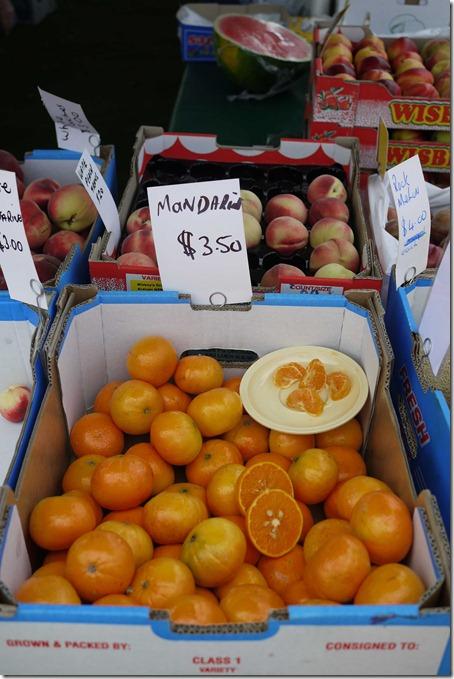 Mandarins, Moruya markets