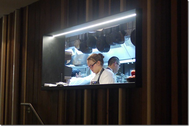 Chefs at work at The Bridge Room, Sydney