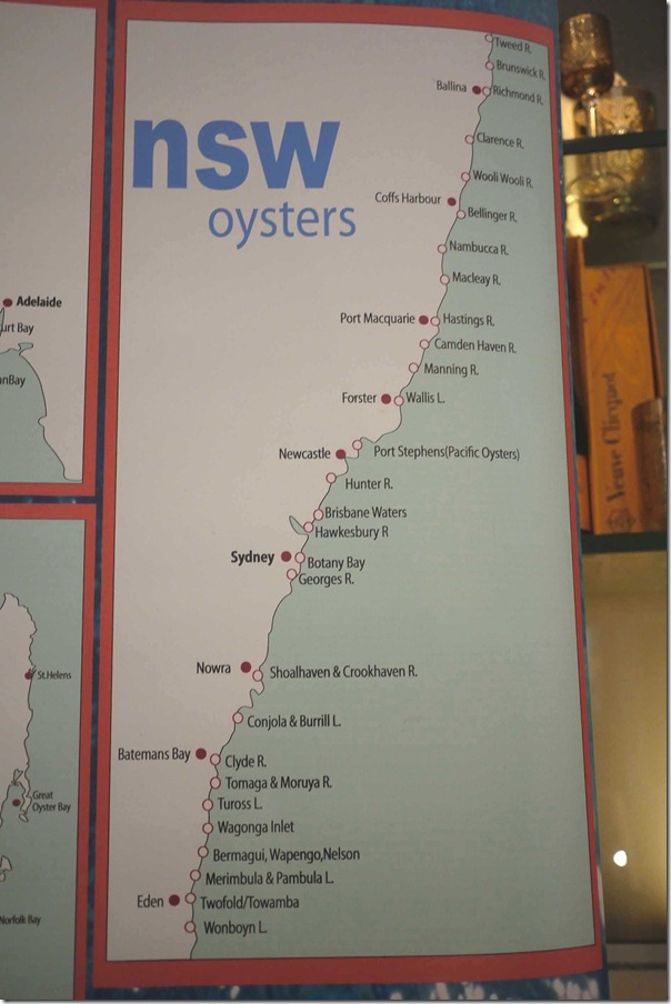 Oyster farms along the New South Wales coastline