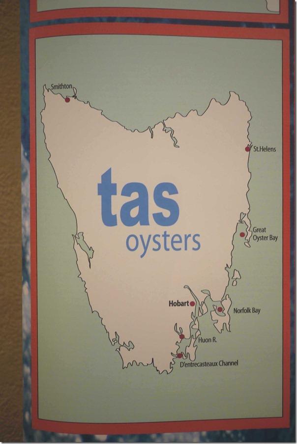 Tasmania's oyster farming regions