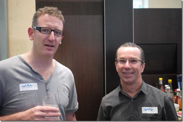 Carl Middleton (Exec Chef, Sydney Hilton) and Gary Johnson (Coles Hotels)