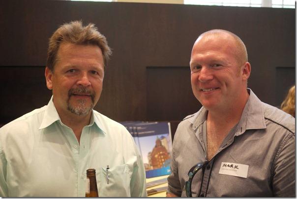 Martin Koestlin, former Exec Chef ACER ARENA with Mark Wright, Exec Chef ACER ARENA