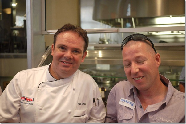 Paul Gruar (Rational Exec Chef) and Marcus Perket (Manly Golf Club)