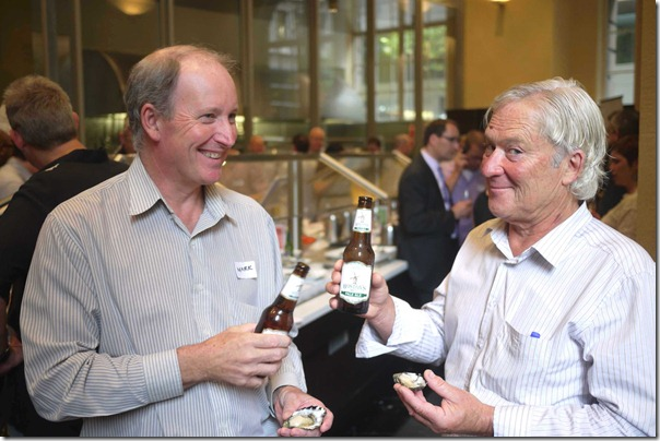 Good mates ~ Mark Bulley with Kevin McAsh, Chair of NSW Oysters Growers Association
