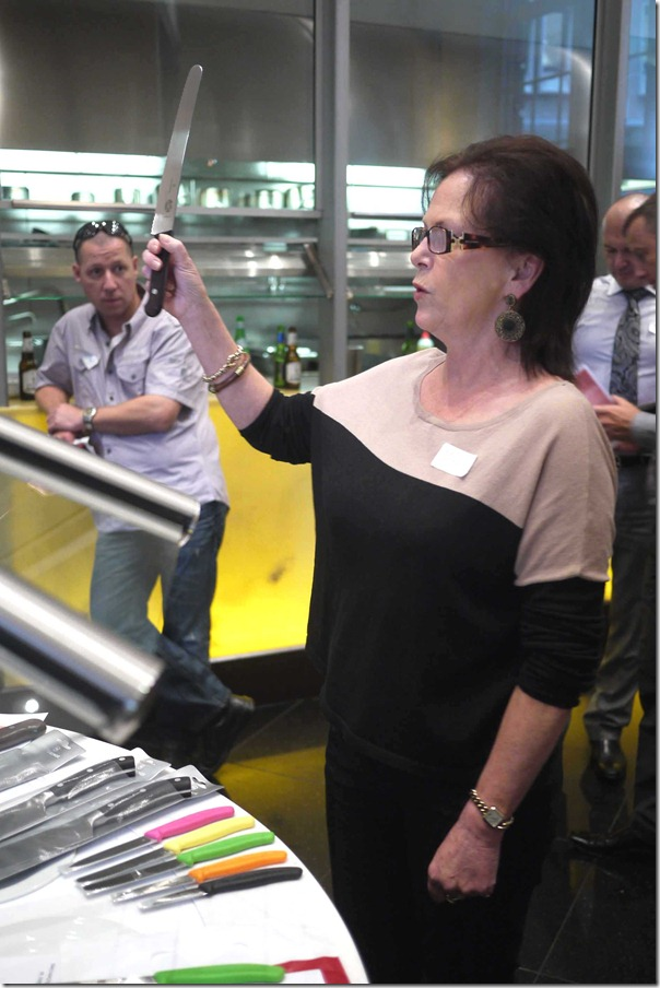 """Don't mess with me, I've got a knife!"" - Debbie Thomson explaining features of Victorinox kitchen knives"