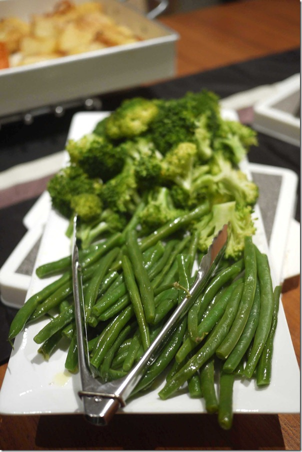 French beans and broccoli